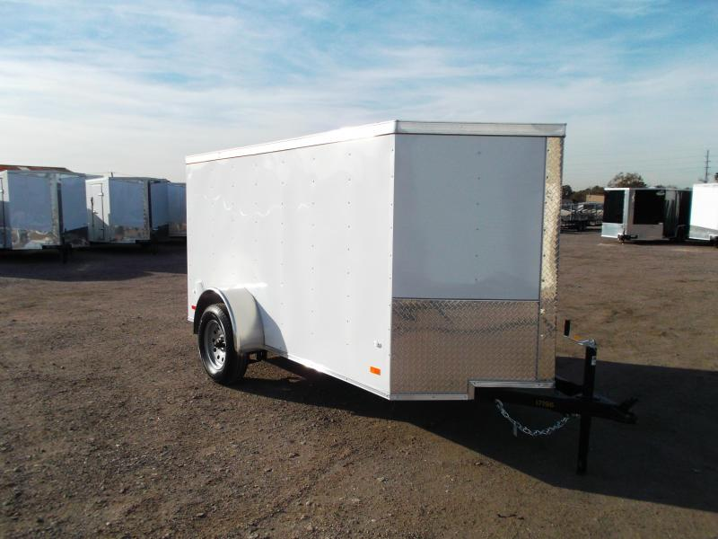 2019 Covered Wagon Trailers 5x10 Single Axle Cargo / Enclosed Trailer / Ramp / LEDs
