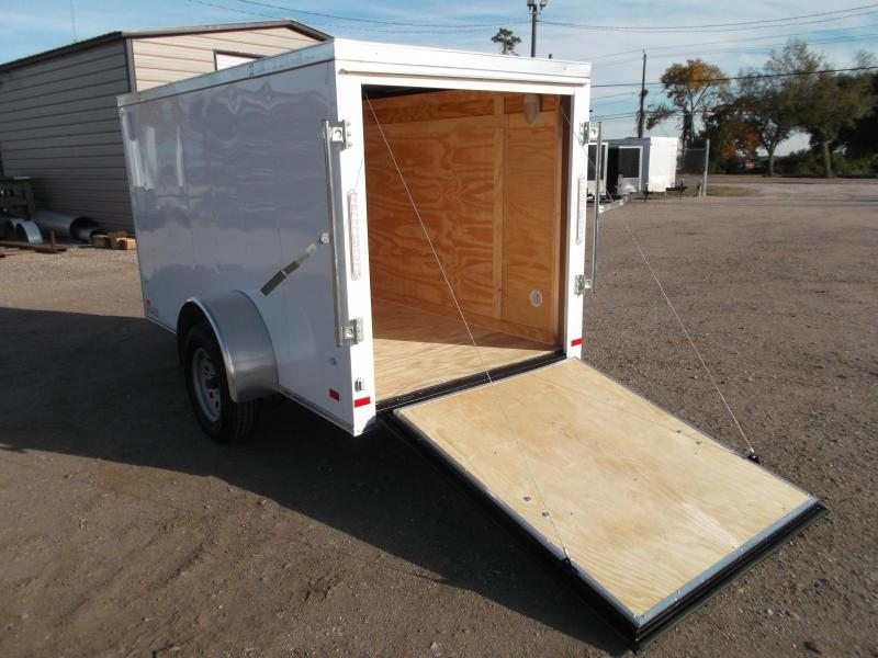SPECIAL - 2019 Covered Wagon Trailers 5x10 Single Axle Cargo / Enclosed Trailer / Ramp / LEDs