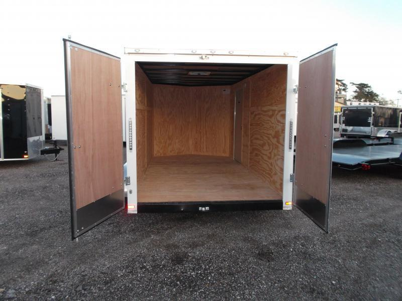 "2018 Covered Wagon Trailers 7x14 Tandem Axle Cargo Trailer / Enclosed Trailer / Barn Doors / 6'6"" Interior / RV Door / LEDs"