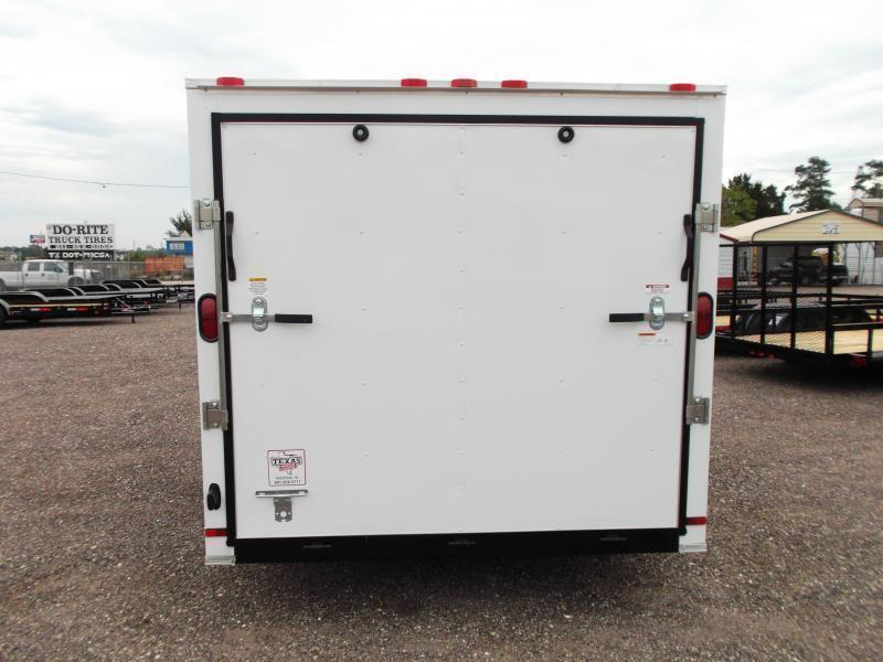 2018 Covered Wagon Trailers 7x14 Tandem Axle Cargo Trailer / Enclosed Trailer w/ Ramp