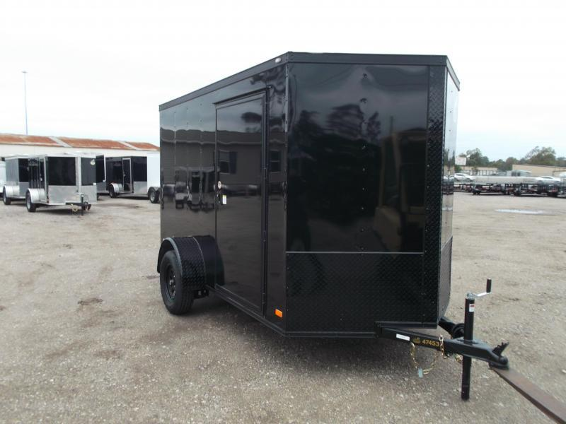 2019 Covered Wagon Trailers 6x10 Single Axle Cargo / Enclosed Trailer / Black Out Package / Ramp Gate / RV Side Door / LEDs