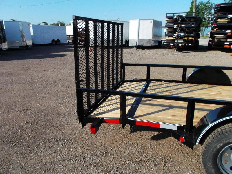 2019 Longhorn Trailers 77x14 Single Axle Utility Trailer / 2ft Dovetail / 4ft Ramp Gate