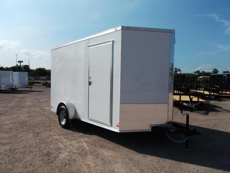 2019 Covered Wagon Cargo Trailer 7x12 Single Axle Cargo / Enclosed Trailer / Ramp Gate / RV Side Door / LEDs