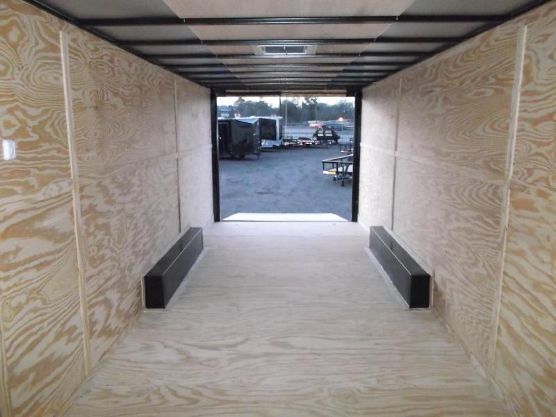 2019 Lark 8.5x24 Tandem Axle Cargo Trailer / Enclosed Trailer / Car Hauler / 5200# Axles / Heavy Duty Ramp / LEDs