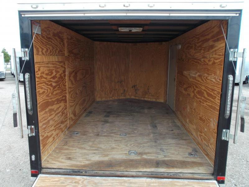 SPECIAL - 2017 Covered Wagon Trailers 7x12 Semi Low Hauler Motorcycle Trailer / Cargo Trailer / Ramp / RV Door / LEDs / D-Rings