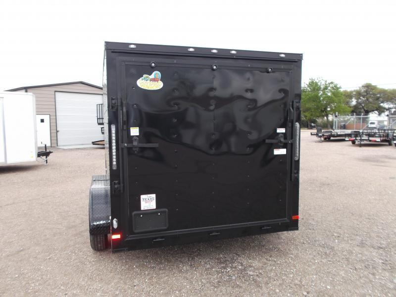 2019 Covered Wagon Trailers 7x12 Tandem Axle Motorcycle Trailer / Cargo Trailer / Black Out Package / Slant V-Nose / Ramp / LEDs