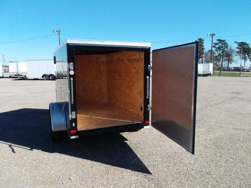2019 Covered Wagon Trailers 5x8 Single Axle Cargo Trailer / Enclosed Trailer / V-Nose / Swing Door / LEDs