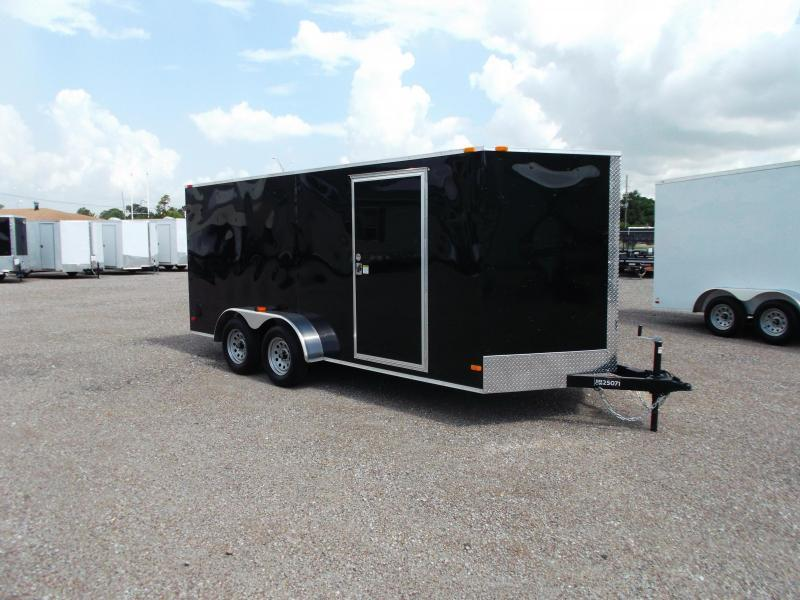 SPECIAL - 2019 Covered Wagon Trailers 7x16 Tandem Axle Cargo Trailer / Enclosed Trailer / Ramp / RV Side Door