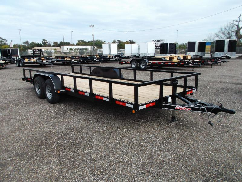 """2018 Longhorn Trailers 83x20 Utility Trailer / 5200# Axles / 2"""" Square Tubing / Brakes / 5ft Ramps"""