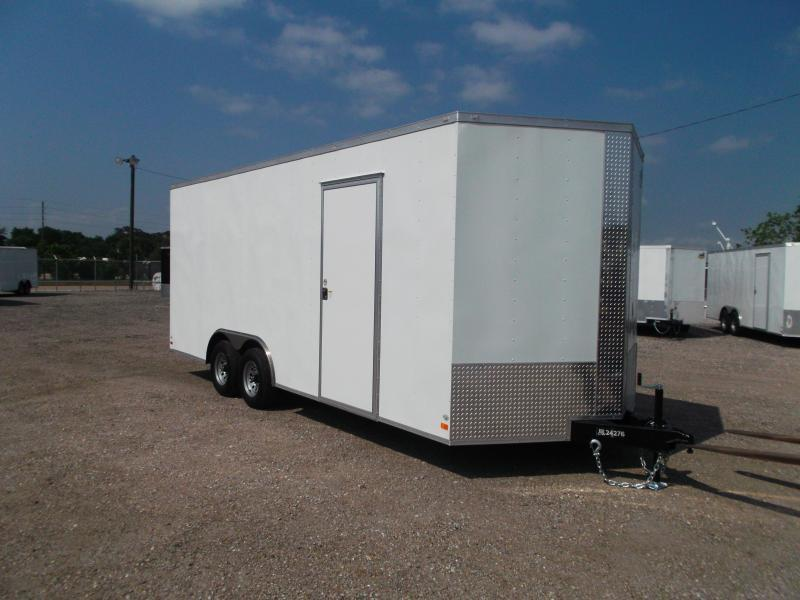 2019 Covered Wagon Trailers 8.5x20 Tandem Axle Cargo / Enclosed Trailer w/ 7'6