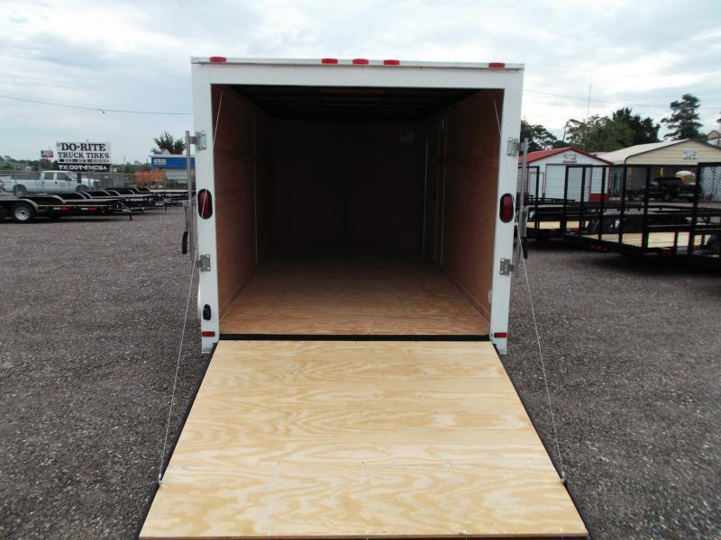 SPECIAL - 2019 Covered Wagon Trailers 7x14 Tandem Axle Cargo Trailer / Enclosed Trailer / Ramp / RV Side Door