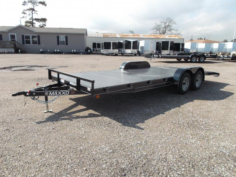 2018 Maxxd 83x20 Steel Deck Car Hauler / Racing Trailer w/ 4ft Dovetail / Powder Coated / 5ft Ramps / 4ft Dovetail