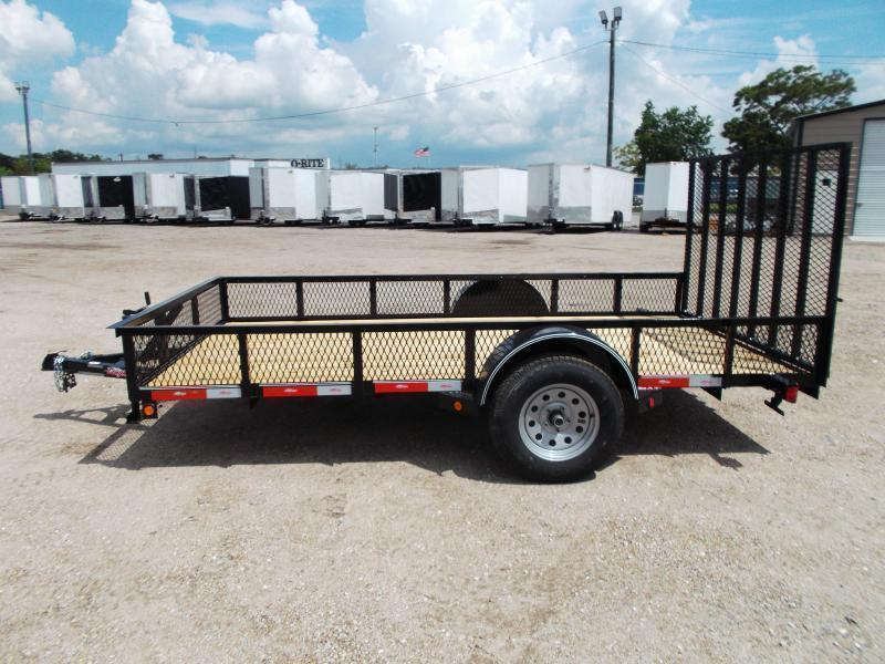 "2019 Longhorn Trailers 77x12 Single Axle Utility Trailer / Landscape Trailer w/ 15"" Expanded Metal Sides / 4ft Heavy Duty Ramp Gate"