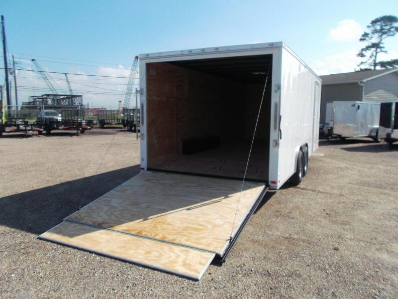 2019 Covered Wagon Trailers 8.5x20 Cargo / Enclosed Trailer / Car Hauler / Motorcycle Trailer / 5200# Axles / (16) D-Rings