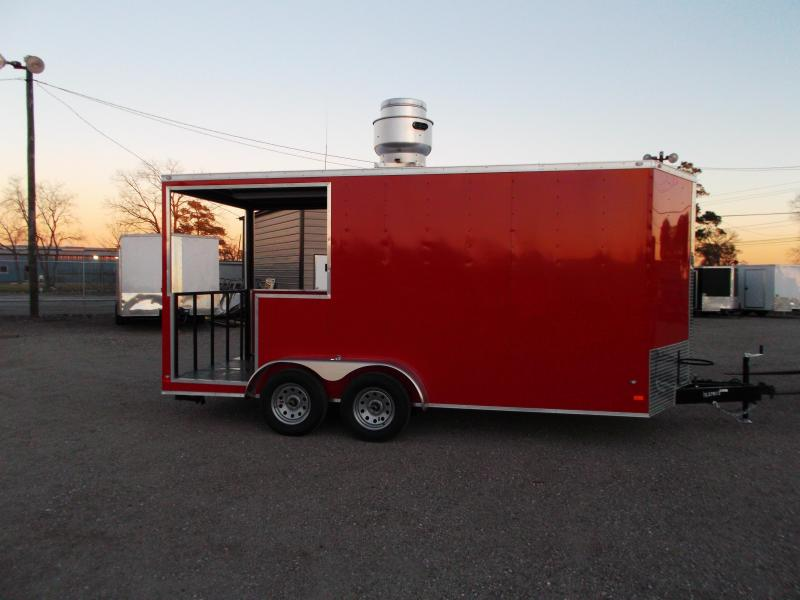 2017 Covered Wagon Trailers 7X16 BBQ Trailer / Concession Trailer / Vending Trailer
