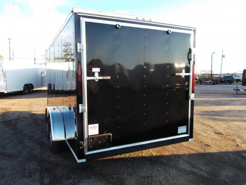 "2019 Texas Select 7x16 Tandem Axle Cargo Trailer / Enclosed Trailer / Ramp / 6'6"" Interior Height / Side Door / LEDs"