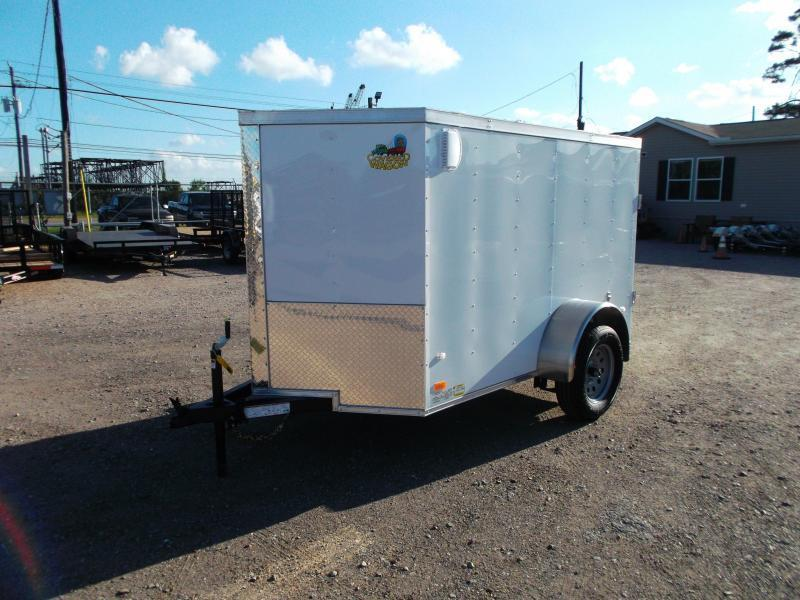 2019 Covered Wagon Trailers 5x8 Single Axle Cargo Trailer / Enclosed Trailer / Barn Doors / LEDs
