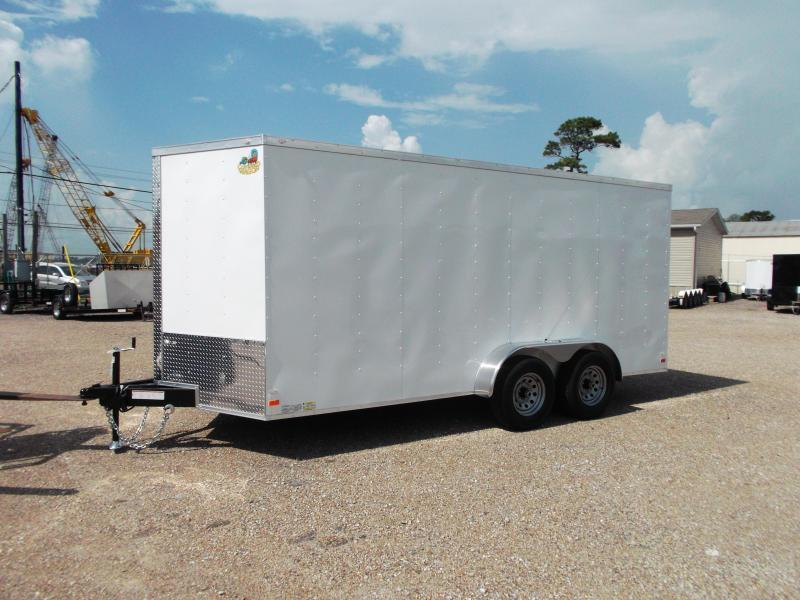 "2018 Covered Wagon Trailers 7x16 Tandem Axle Cargo / Enclosed Trailer w/ 6'6"" Interior / 5200# Axles / Ramp"