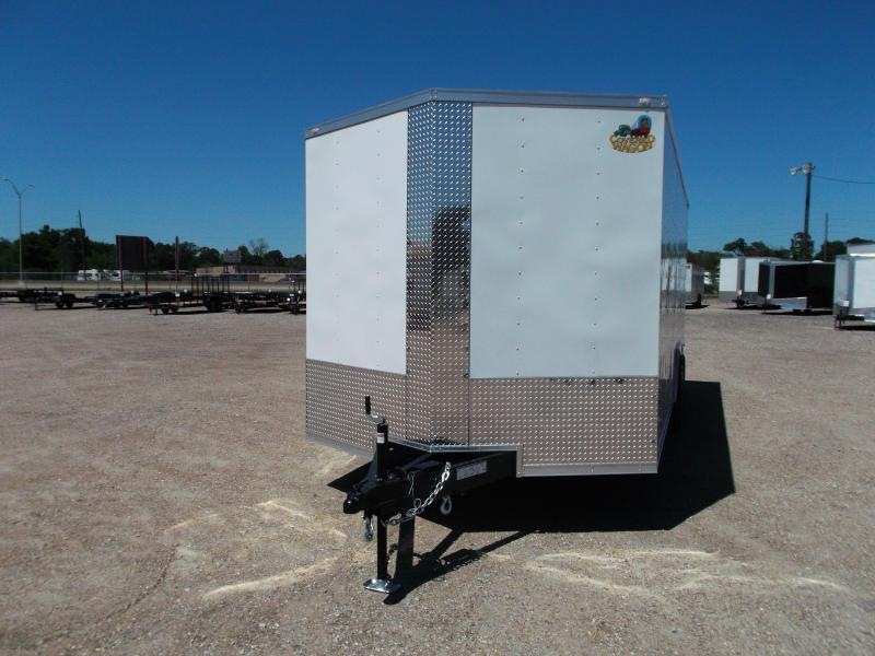 2019 Covered Wagon Trailers 8.5x20 Tandem Axle Cargo / Enclosed Trailer / 7ft Interior Height / 7000# Torsion Axles / Ramp / LEDs