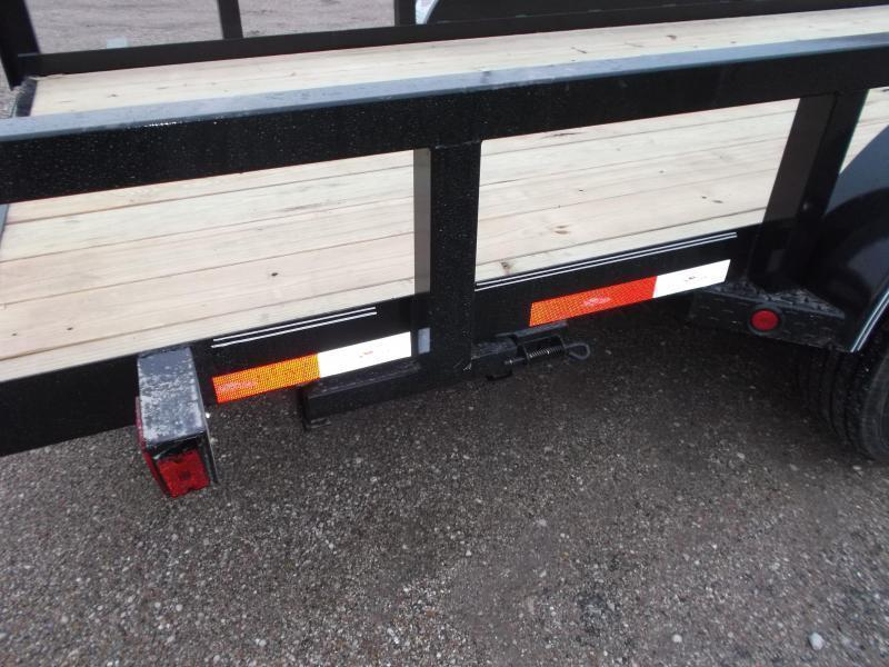 """2019 Longhorn Trailers 83x20 Utility Trailer w/ 7000# Axles / 3"""" Square Tubing / 5ft Ramps"""