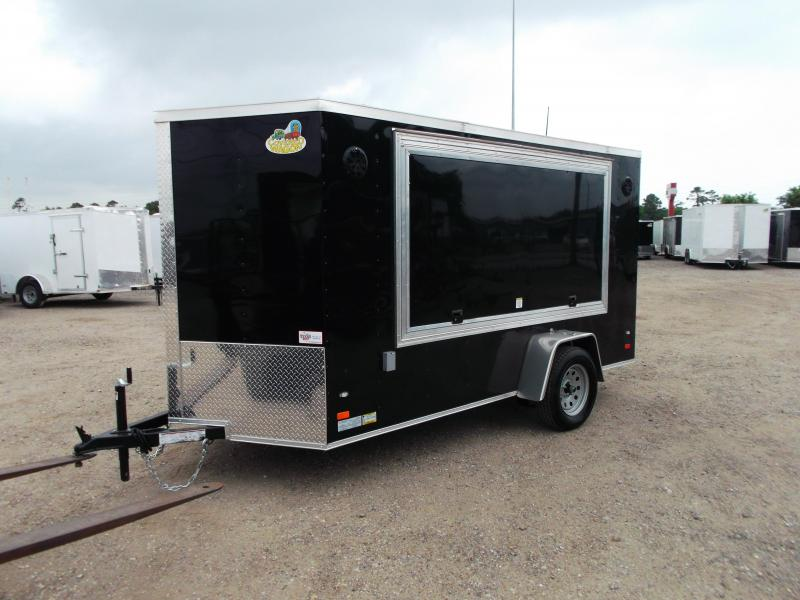 2019 Covered Wagon Trailers 6x12 Tailgate Trailer / Stereo Package / Boss Marine Speaker System / Side Door / Ramp / Electrical