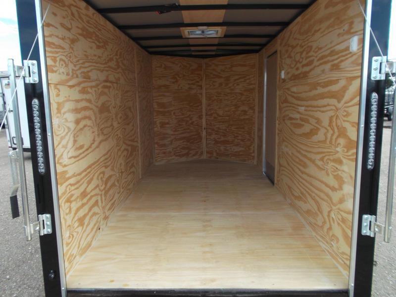 2019 Lark 6x12 Single Axle Cargo Trailer / Enclosed Trailer / Ramp / Side Door / LEDs