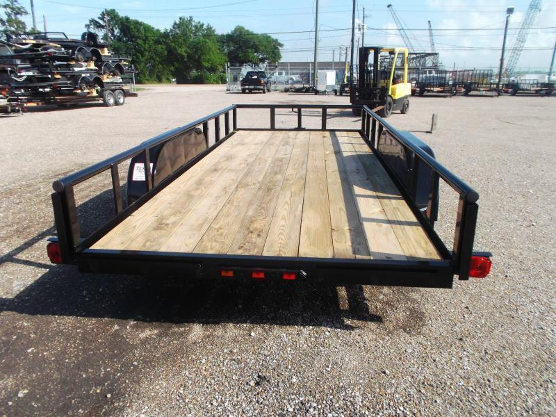 2018 Longhorn Trailers 16ft Utility Trailer w/ Pipetop / 5ft Stow Away Ramps / Electric Brakes