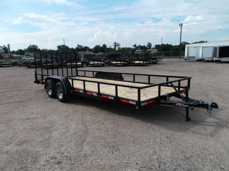 "2018 Longhorn Trailers 83x20 Utility Trailer w/ 4ft Ramp Gate / Electric Brakes / 2"" Square Tubing Toprail"
