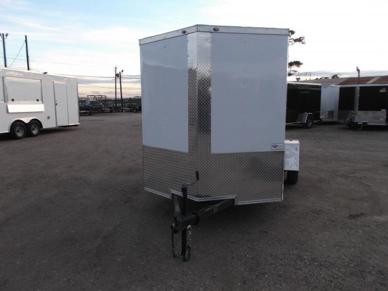 "2019 Texas Select 6x12 Single Axle Cargo Trailer / Enclosed Trailer / 6'3"" Interior / Ramp / Side Door / LEDs"
