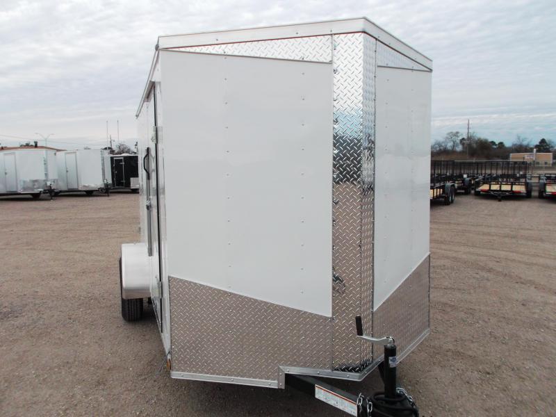 "2018 Lark 6x12 Single Axle Cargo Trailer / Enclosed Trailer w/ Ramp / 6'6"" Interior"
