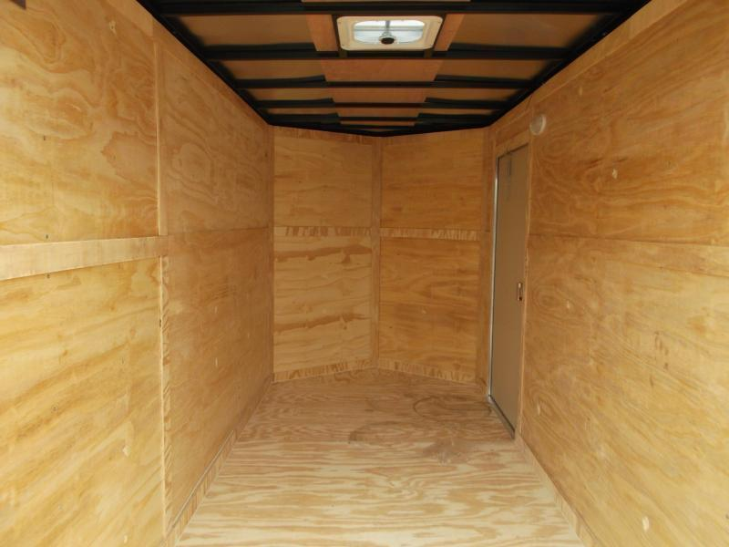 "2018 Covered Wagon Trailers 6x12 Tandem Axle Cargo Trailer / Enclosed Trailer w/ 6'6"" Interior / Ramp Gate"