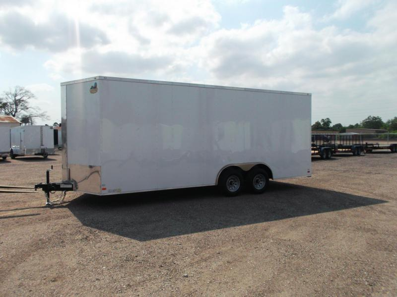 """2019 Covered Wagon Trailers 8.5x20 Tandem Axle Cargo / Enclosed Trailer w/ 7'6"""" Interior Height / 5200# Axles / Ramp"""