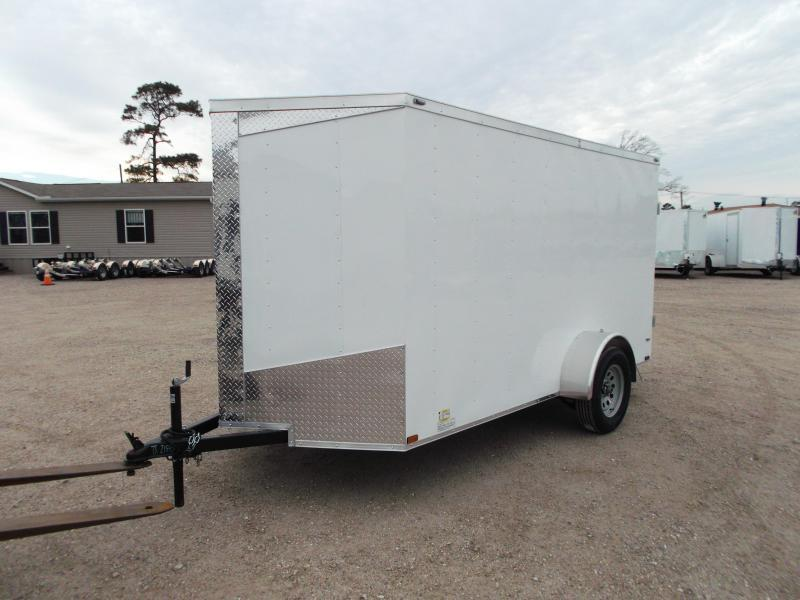 2018 Lark 6x12 Single Axle Cargo Trailer / Enclosed Trailer w/ Ramp