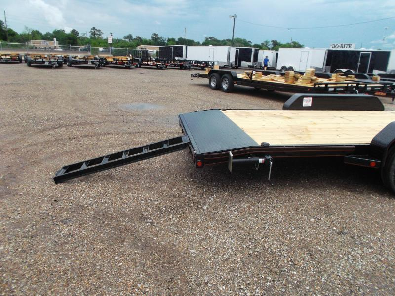 2018 Maxxd Trailers 83X24 10K Car Hauler / Racing Trailer / Flatbed Trailer / Powder Coated / 5200# Axles / LEDs