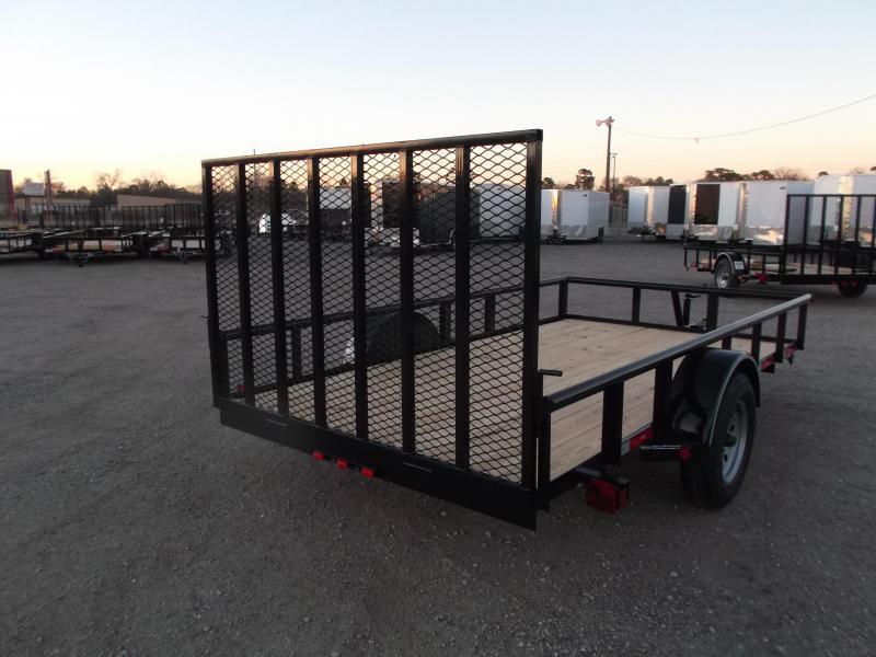2019 Longhorn Trailers 77x12 Single Axle Utility Trailer / Pipetop / Heavy Duty 4ft Ramp