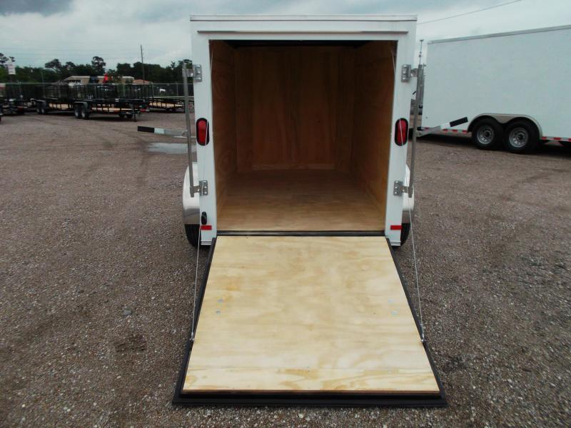 2018 Covered Wagon Trailers 5x8 Single Axle Cargo Trailer / Enclosed Trailer w/ Ramp Gate