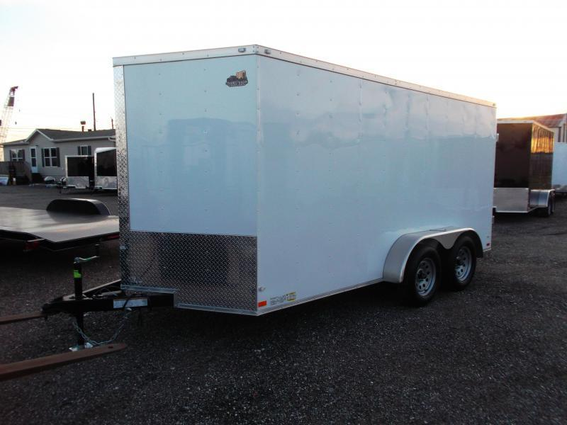 2018 Covered Wagon Trailers 7x12 Tandem Axle Motorcycle Trailer / Cargo Trailer / Enclosed Trailer w/ Ramp
