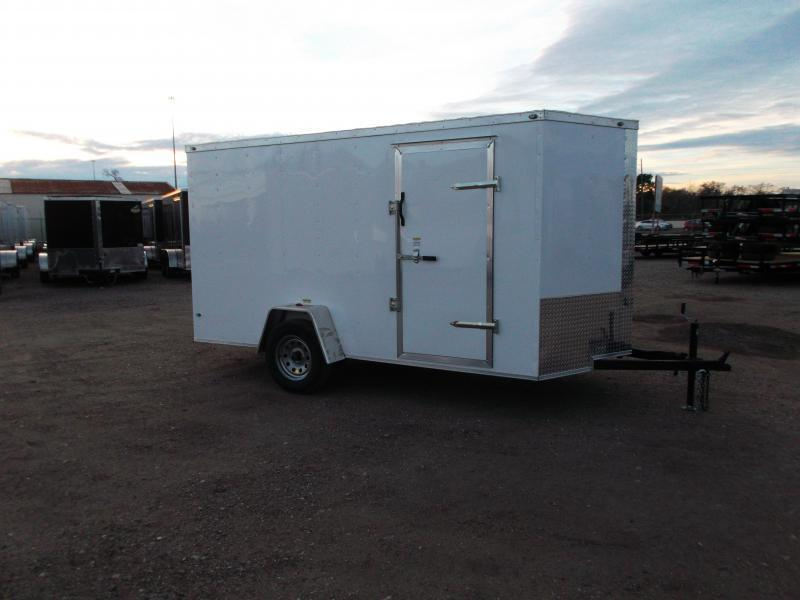 "2019 Texas Select 6x12 Single Axle Cargo Trailer / Enclosed Trailer / 6'3"" Interior / Barn Doors / Side Door / LEDs"