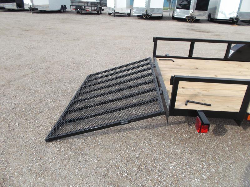 2019 Longhorn Trailers 77x14 Single Axle Utility Trailer w/ 4ft Heavy Duty Ramp Gate