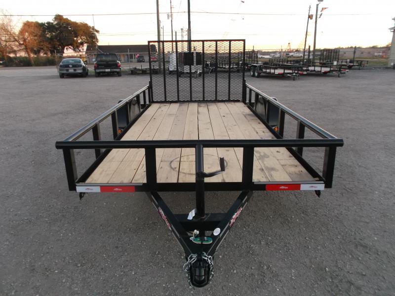 2019 Longhorn Trailers 77x14 Single Axle Utility Trailer / Pipetop / 4ft Heavy Duty Ramp Gate