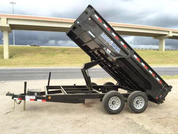 """2017 Load Trail 83"""" x 14' Tandem Axle Dump (with scissor lift)"""