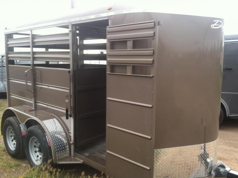 2017 Delta Manufacturing 6X12 CATTLE Stock / Stock Combo Trailer