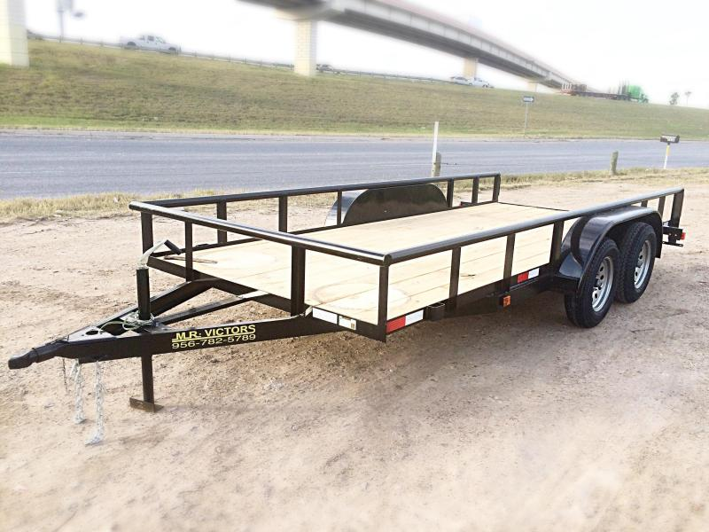 2017 Mr Victors 77X16 PIpe Top Utility Trailer HEAVY DUTY