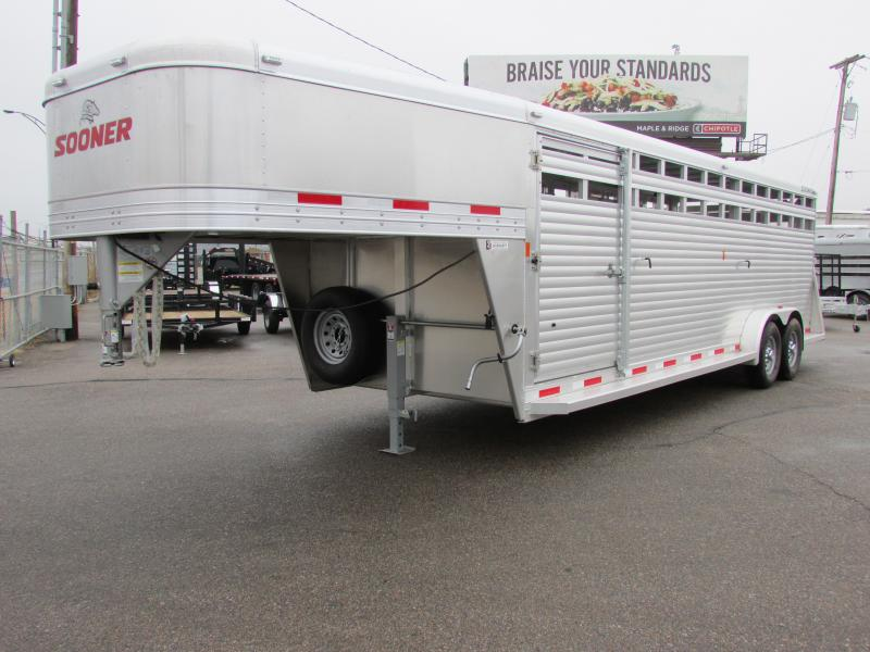 2016 Sooner SR 7024 66 Tall Livestock Trailer