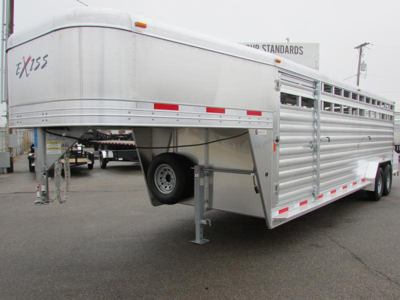 "2016 Exiss STK 7024 6'6"" Tall Livestock Trailer"
