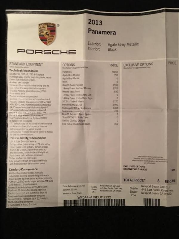 2013 Porsche Panamera Car