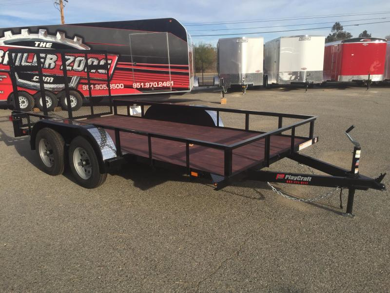2018 Playcraft 77X14 Utility Trailer