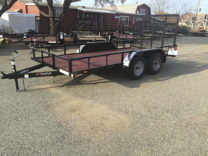 2018_Playcraft_LDSU_77X14_Utility_Trailer_tHOrTM tandem axle utility trailer zone dealer utility and cargo  at gsmx.co