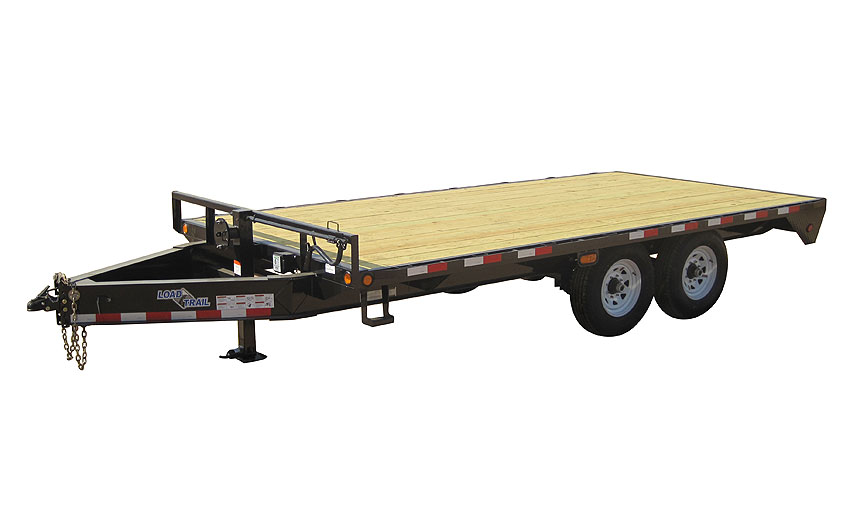 "2015 Load Trail 102"" X 24' Standard Pintle Hook   2-7,000 lb Axles"