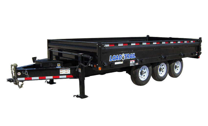 "2016 Load Trail 96"" X 16' Triple Axle Deck Over Dump (with scissor lift)"